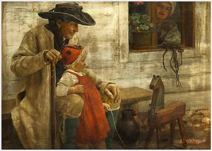 Spillar Jaroslav (Czech, 1869-1917) «A Chod Family» 1900 (700x500, 158Kb)