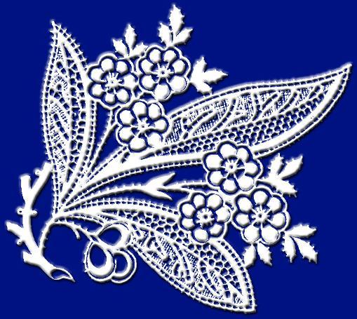Кружева Красивые белые орнаменты и кружева на синем фоне.  Дата публикации: 02.06.2010 Прочитано: 3162 раз.