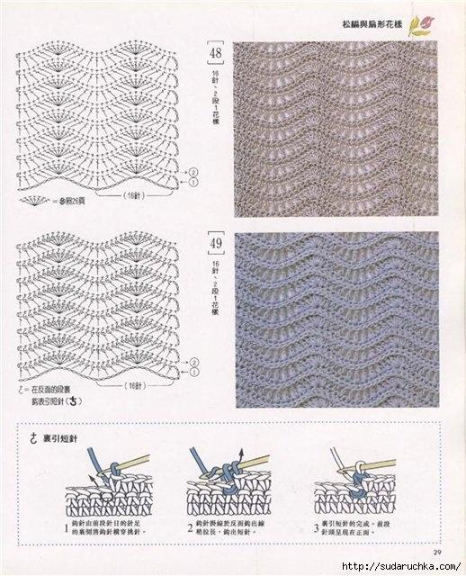 Узоры для вязания крючком схемы.