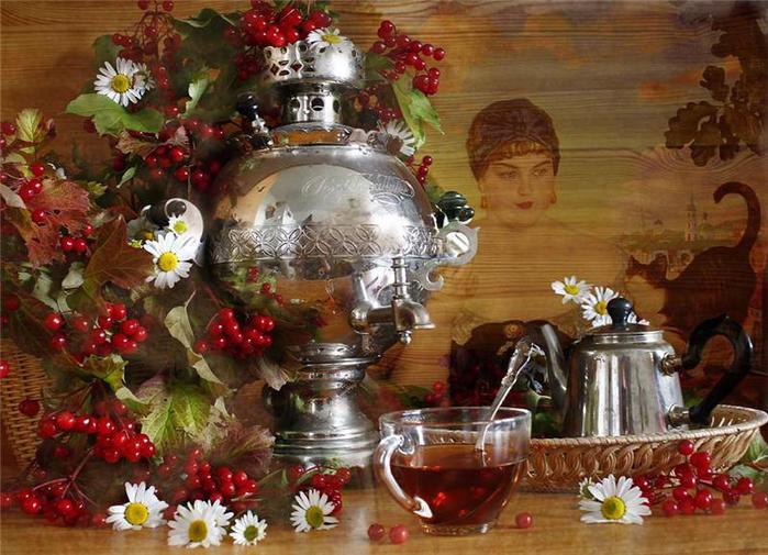 Самовар чай в двоём (550x305, 74Kb)