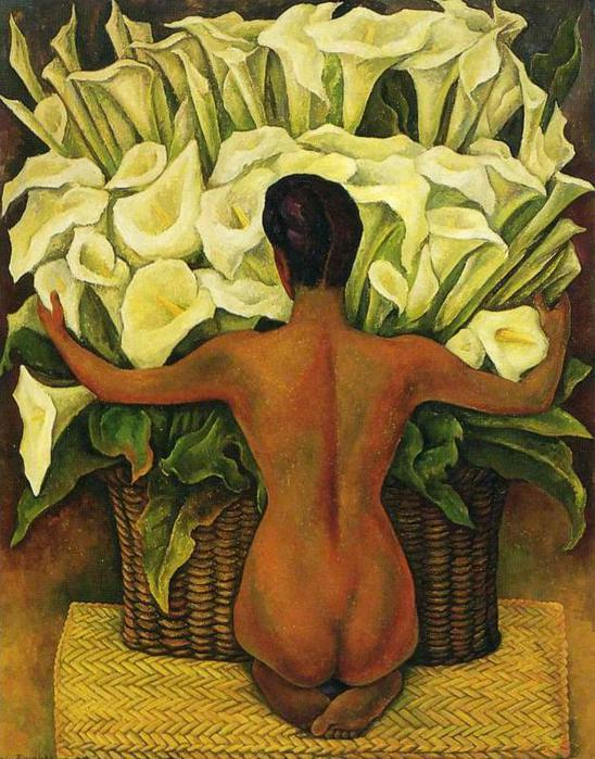Nude with Calla Lilies, 1944 (548x700, 82Kb)