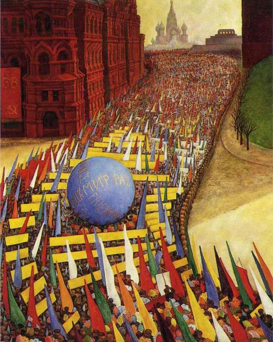 May Day Procession in Moscow, 1956 (559x700, 100Kb)