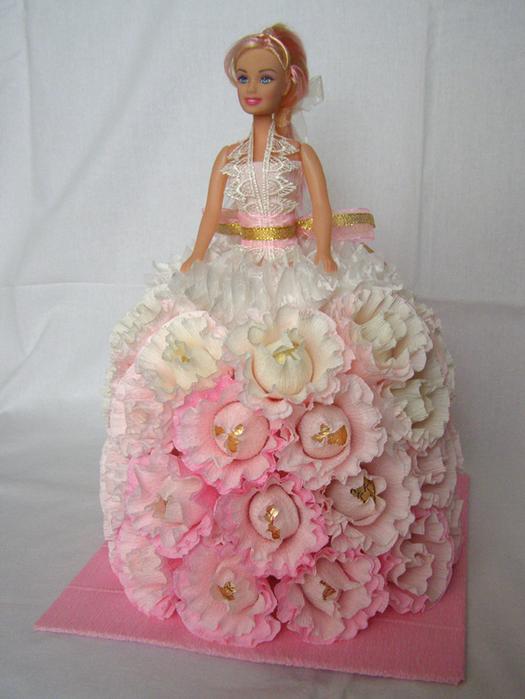 Как сделать барби платье из конфет
