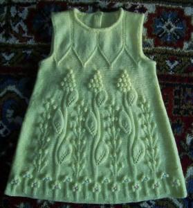 зелёное платье для девочки (279x300, 32Kb)