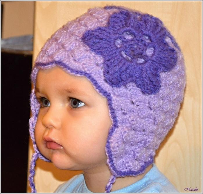 детская шапка с ушками схема крючком