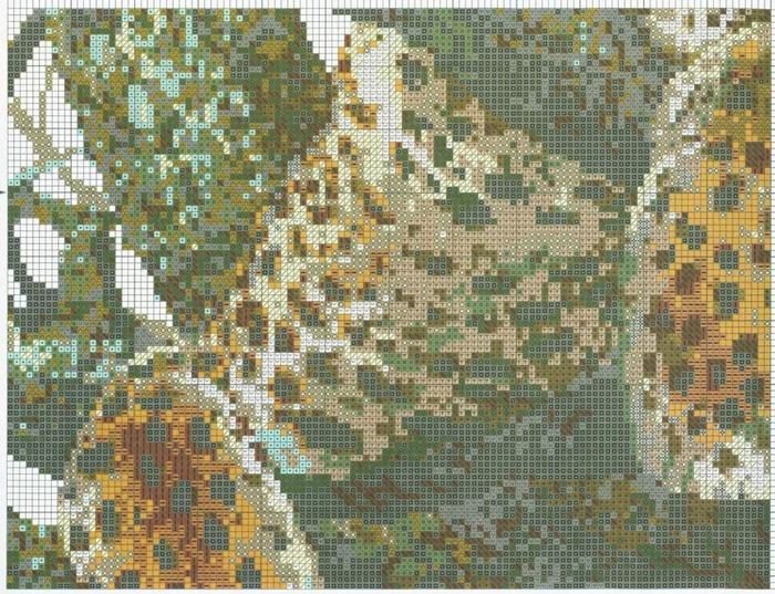 Вышивка крестом леопарды схема 56
