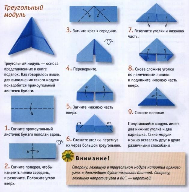 фигурки оригами необходимо