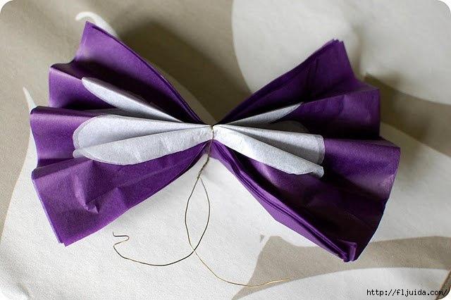 """手工纸艺花:礼品盒上的""""容积花""""  (大师班) - maomao - 我随心动"""
