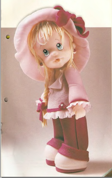 Кукла из холодный фарфор