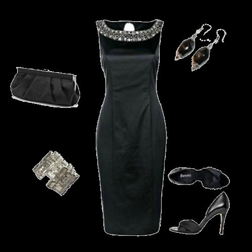Как украсить черное платье кружевом фото