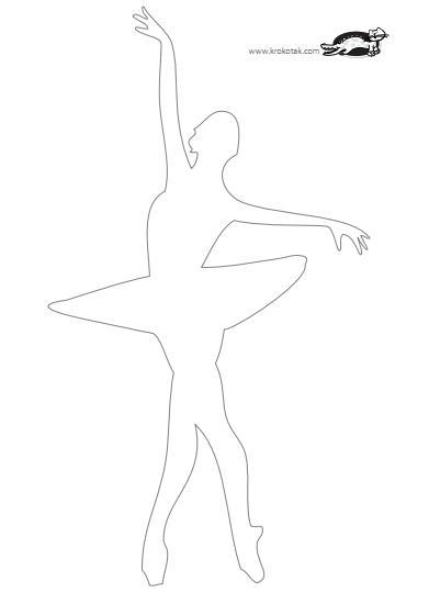Силуэты Балерин Вырезать