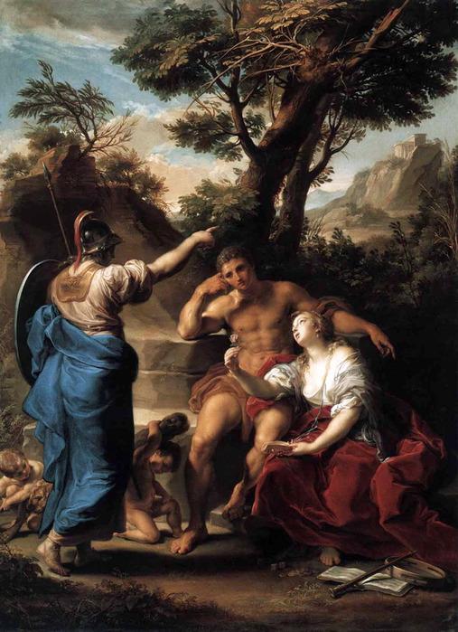 «Геркулес на распутье между Добродетелью и Пороком» 1748 (507x700, 135Kb)