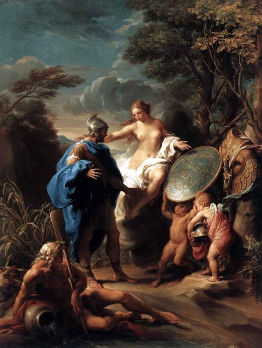 «Венера, дарящая Энею доспехи, изготовленные Вулканом» 1748 (527x700, 128Kb)