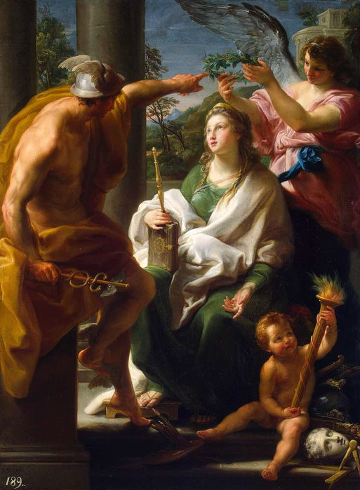 «Меркурий, коронующий Философию, Мать Искусств» 1747 (513x700, 96Kb)