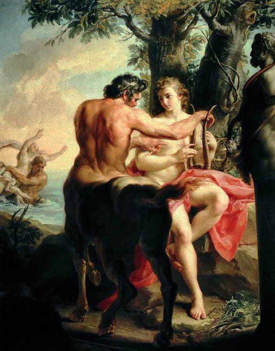 «Воспитание Ахилла кентавром Хироном» 1747 (549x700, 111Kb)