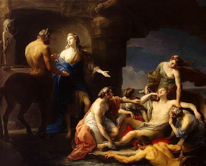 «Фетида вручает Хирону Ахиллеса на воспитание» 1770 (700x564, 111Kb)
