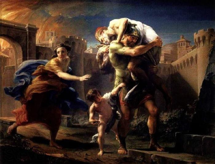 «Эней бежит из Трои» (700x534, 112Kb)