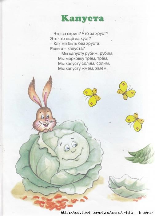 Стих о ребенке в капусте