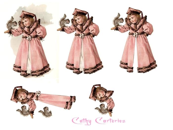 fillette manteau rose et écureuil (700x525, 163Kb)