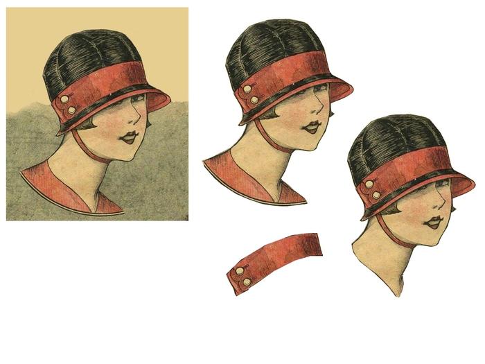 femme rouge et chapeau noir (700x525, 152Kb)