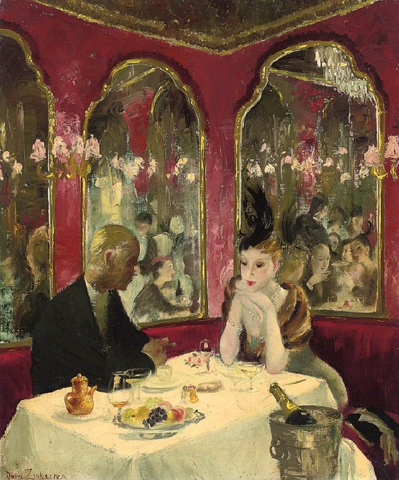 Doris Zinkeisen (1898-1991) -Corner of the Café Royal (581x700, 378Kb)