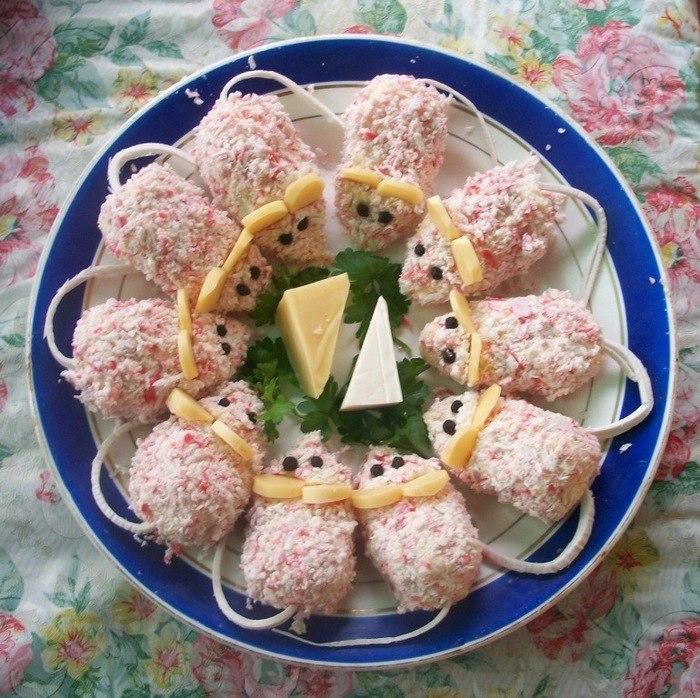 Закуски салаты на детский день рождения и рецептами