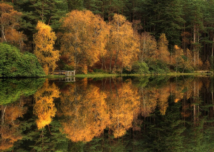 Фотограф Роджер Меррифилд - зеркальные пейзажи.