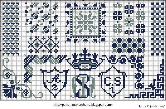 Alphabete und Muster zum Wäschezeichnen und Sticken 13 (660x434, 306Kb)