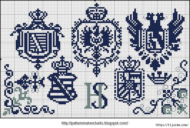 Alphabete und Muster zum Wäschezeichnen und Sticken 15 (665x449, 300Kb)