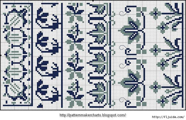 Alphabete und Muster zum Wäschezeichnen und Sticken 18 (655x424, 275Kb)