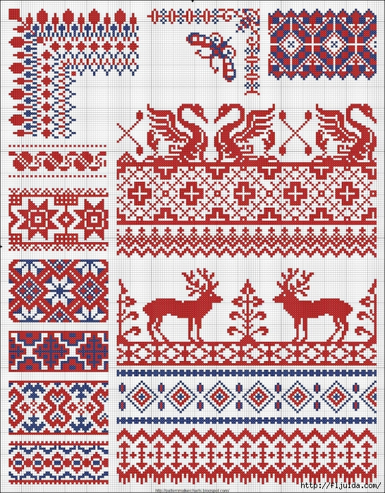 Collected velikorusskih and malorossiyskih patterns for embroidery - 07 (546x700, 548Kb)