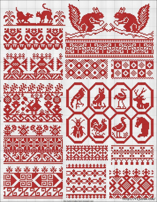 Collected velikorusskih and malorossiyskih patterns for embroidery - 11 (546x700, 552Kb)