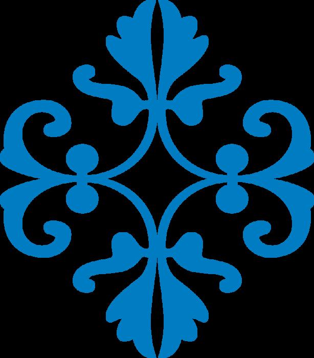Орнамент синий