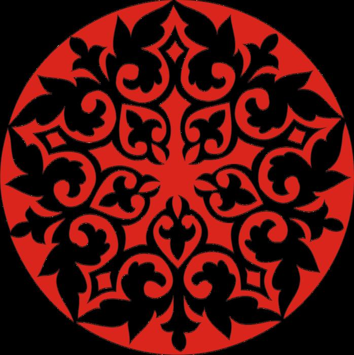 Казахские узоры и орнаменты трафареты