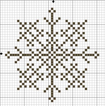 Вышивка Крестом Снежинки