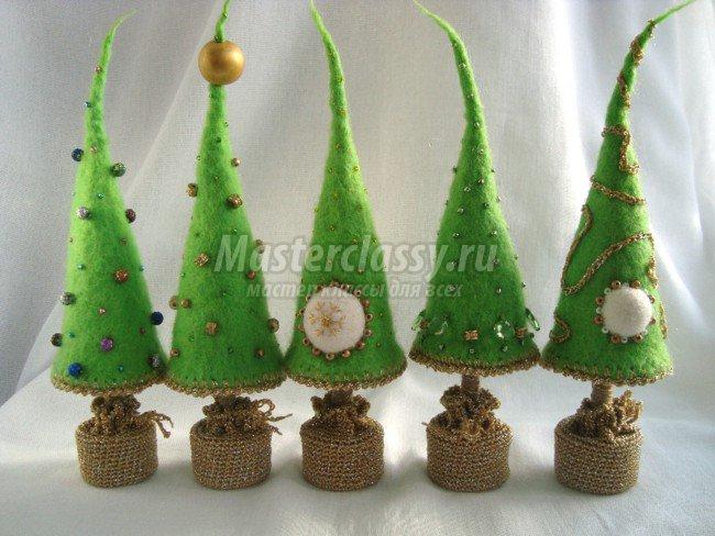Декоративные елки своими руками на новый год