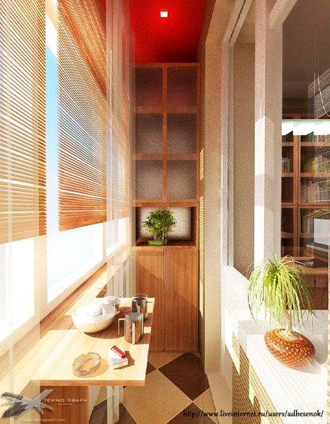 Интерьер балкона в квартире хрущевке