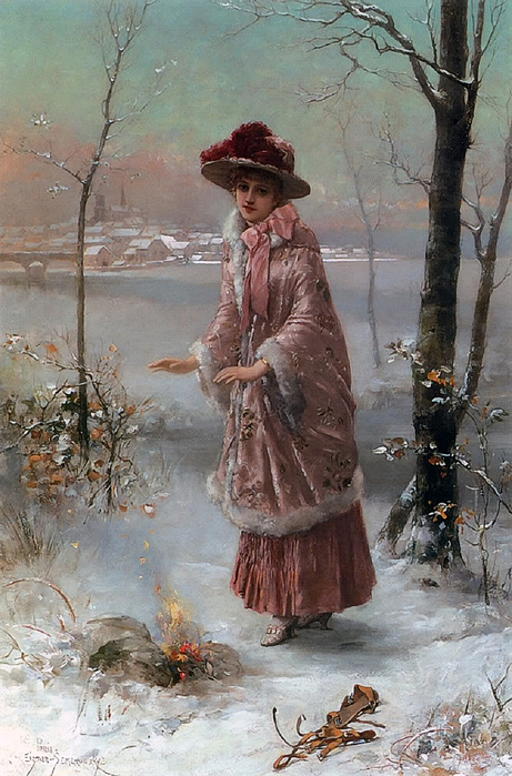 Semenowsky_Eisman_Winter_Oil_On_Pan (461x700, 293Kb)