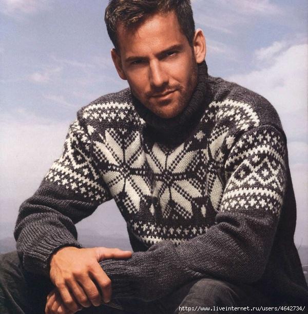 Мужской пуловер в