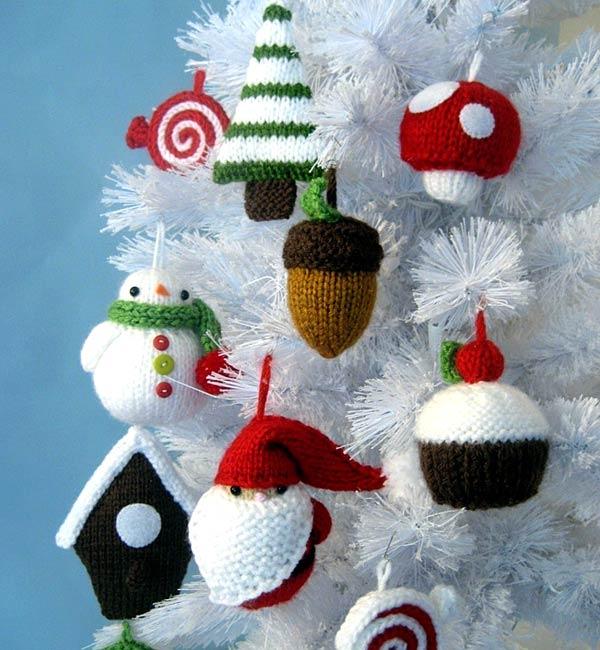 схемы вязания игрушек на елку и сувениров к рождеству