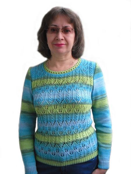 Вязание спицами из ализе белла батик с описанием 20
