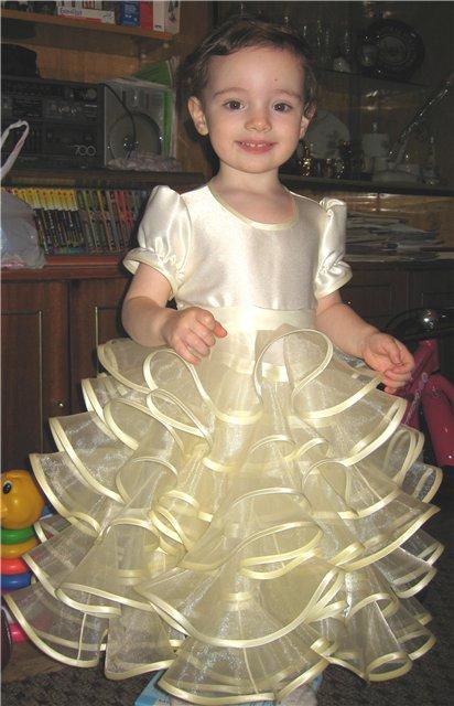Платье для девочки из органзы сшить своими руками