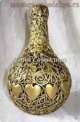 Декоративная бутылочка своими руками