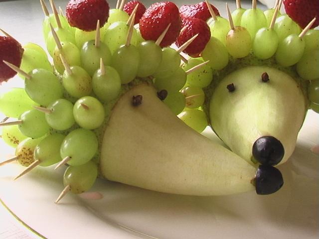 Украшения стола из фруктов и овощей своими руками