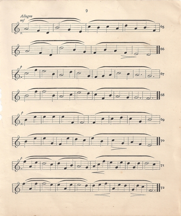 Music Sheet Leaping Frog Designs (586x700, 300Kb)