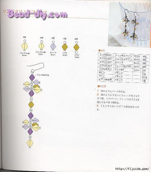 Оригинальные украшения из бисера со схемами.