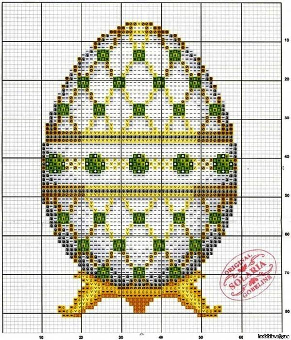 Яйце фаберже схема вышивки