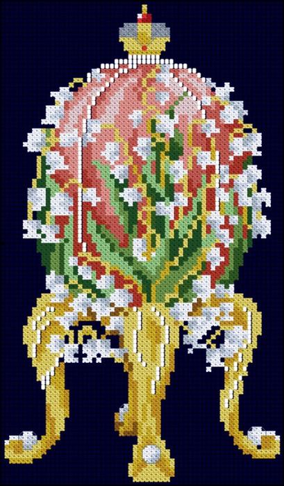 Праздники.  Дата.  4219. Схема вышивки крестом Faberge Egg.  1385. Добавил.