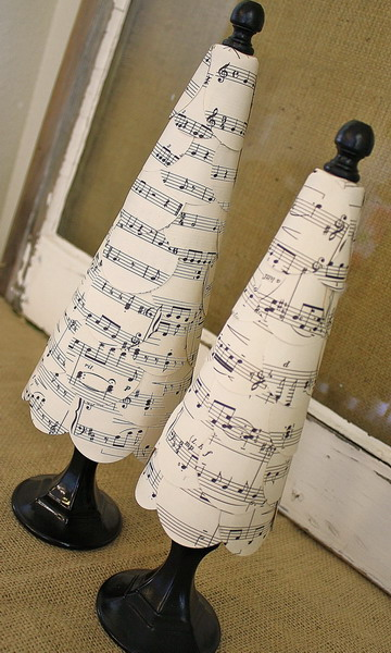 Без  дела  не  сижу.  Ноты  в  рождественском  декоре.  Идеи,  мастер-классы.  Рождественские  ноты  в  подарок!