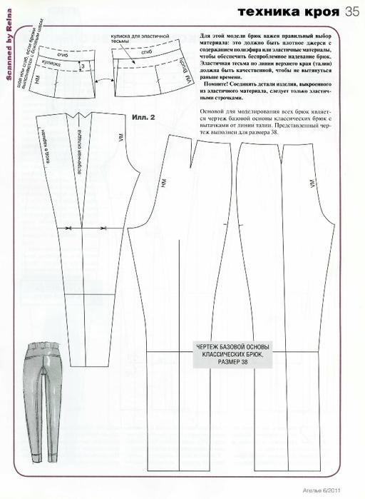 Как сшить штаны бананом 307